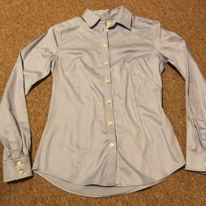 Banana Republic Non-Iron Fitted Button Down Blue